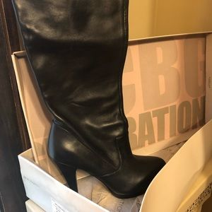 Thigh high leather BCBG boots